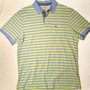 Vineyard Vines Whale Stripe Polo Shirt Men's LG